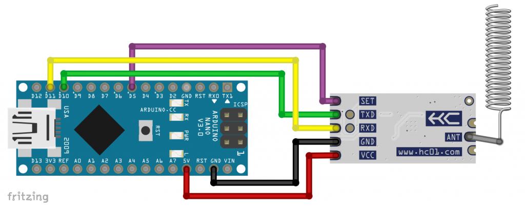 Das HC-12 Modul am Arduino Nano