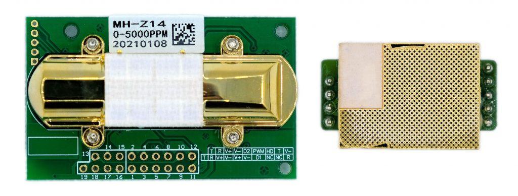 Vertreter der MH-Z14 und MH-Z19 CO2 Sensoren