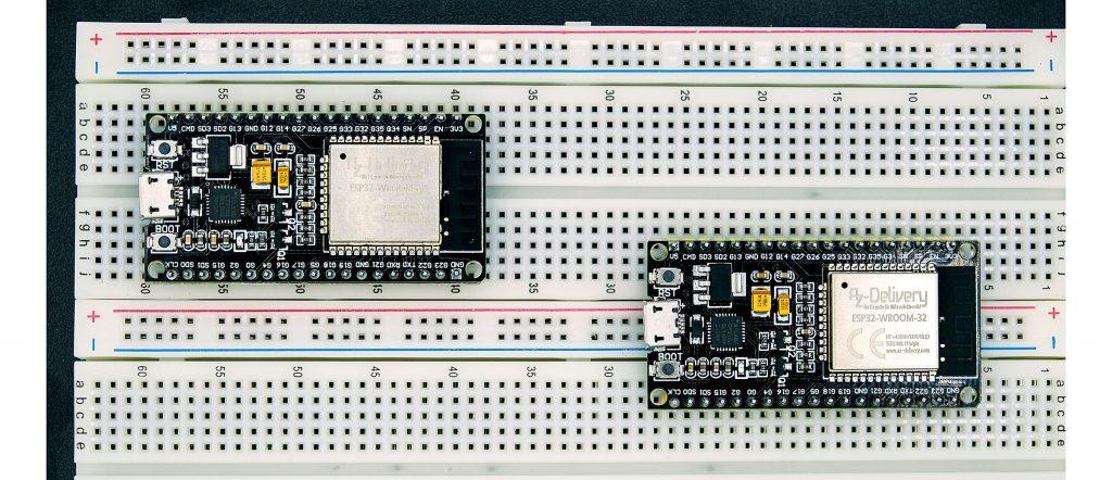 Nicht alle ESP32 Module passen auf alle Breadboards