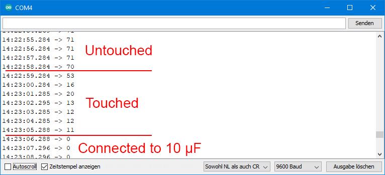 Ausgabe von ESP32_touch_test.ino